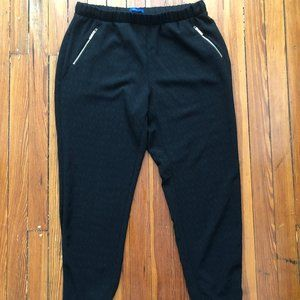 Apt. 9 Black Slouch Pants W/Zipper Pockets